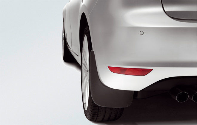 Original Volkswagen Satz Schmutzfänger hinten Golf VI 6 NEU