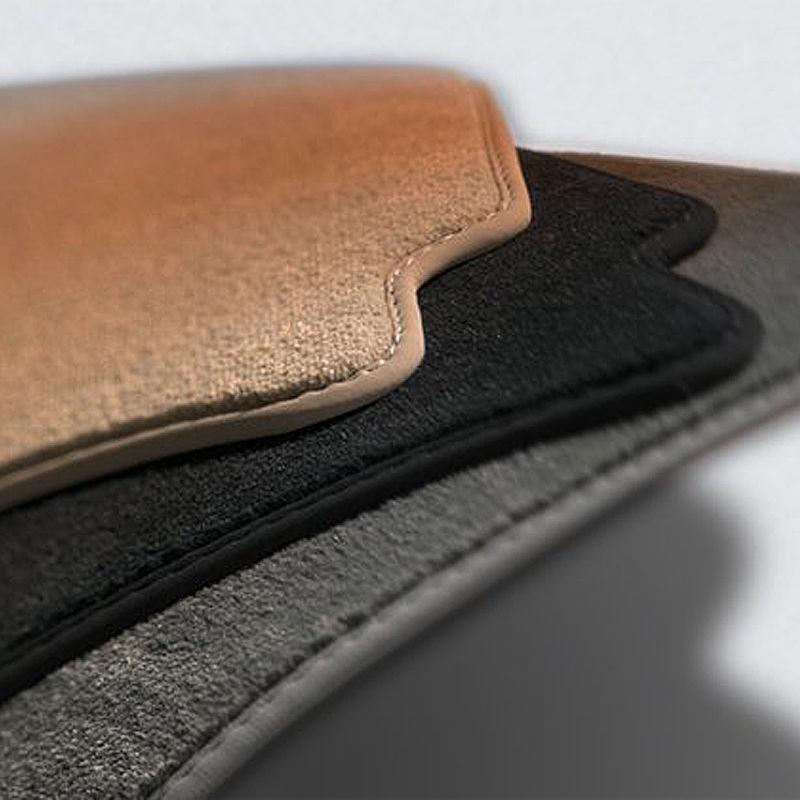 Original Volkswagen Satz Textilfußmatte Premium vorn VW Passat VI / VII schwarz
