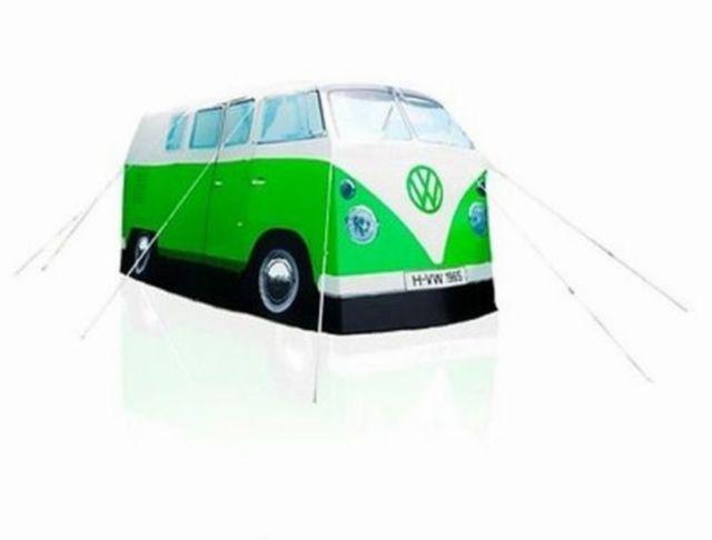 Volkswagen Lifestyle T1 Zelt 1965, in grün/weiß, Maßstab 1:1, inkl. Packsack
