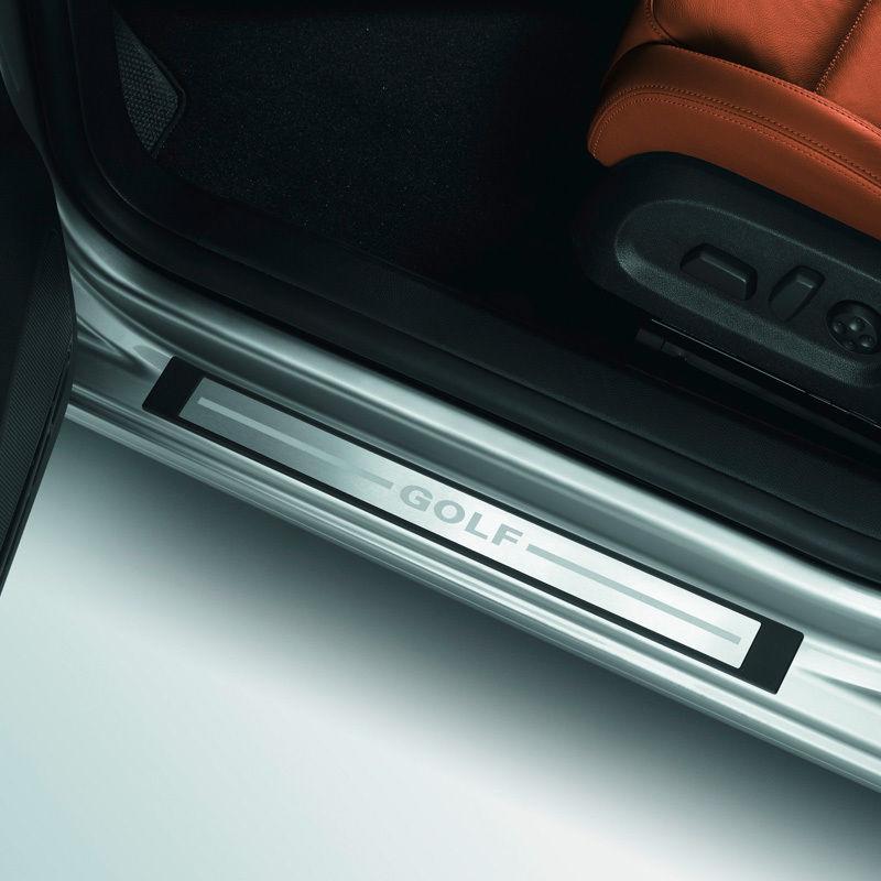 Original Volkswagen Einstiegsleiste VW Golf VI 4-türer Edelstahl (gebürstet) NEU