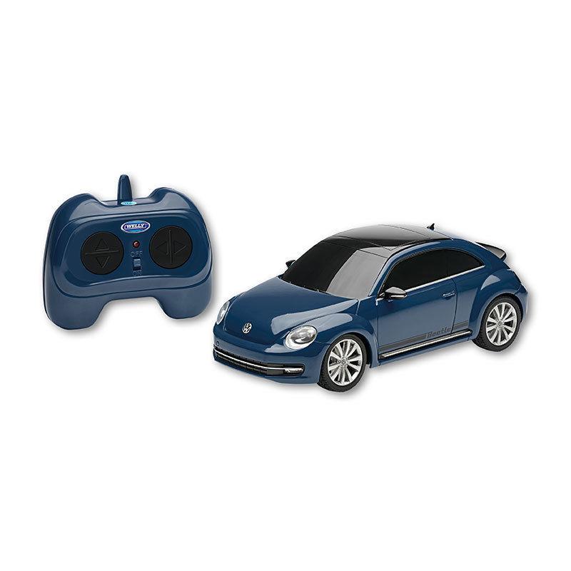 RC Beetle in blau, im Maßstab 1:24, Scheinwerfer leuchten, funkferngesteuert
