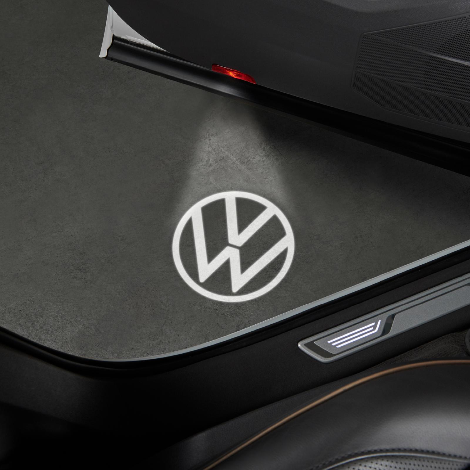 Original VW LED Logoleuchten Einstiegsleuchten neuem Volkswagen Logo 000052120C