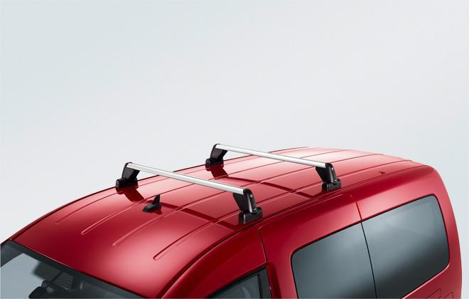 Original Volkswagen Satz Grundträger Dachgepäckträger VW Caddy NEU