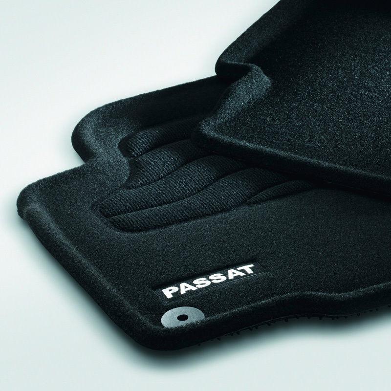 Original Volkswagen Satz Textilfußmatte Premium vorn & hinten VW Passat schwarz