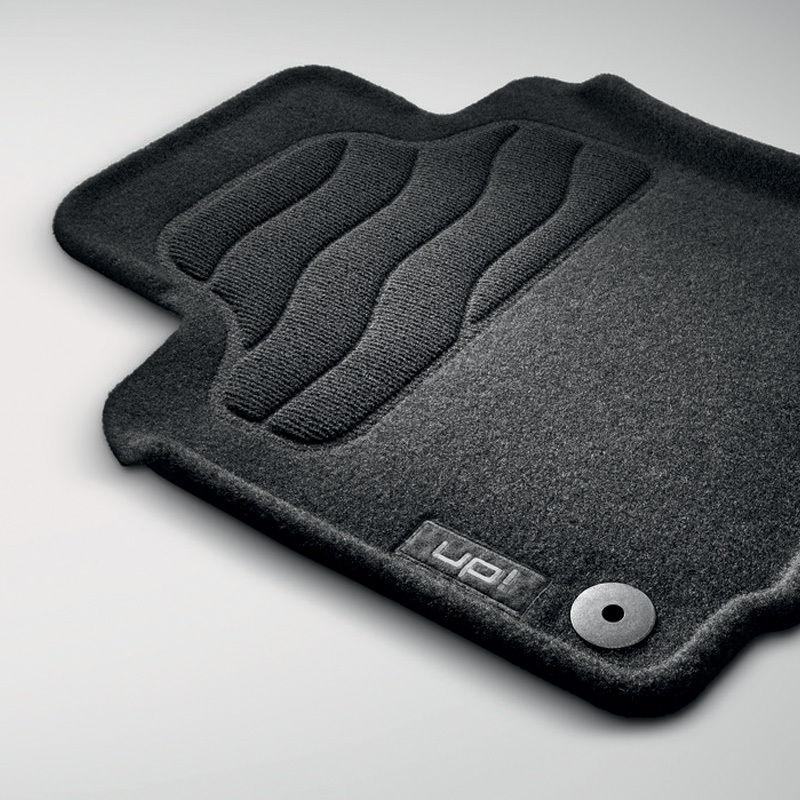 Original Volkswagen Satz Textilfußmatte vorn & hinten VW up! schwarz NEU