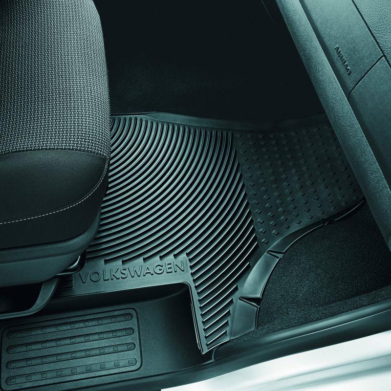Original Volkswagen Satz Gummimatte vorn VW T5 schwarz NEU