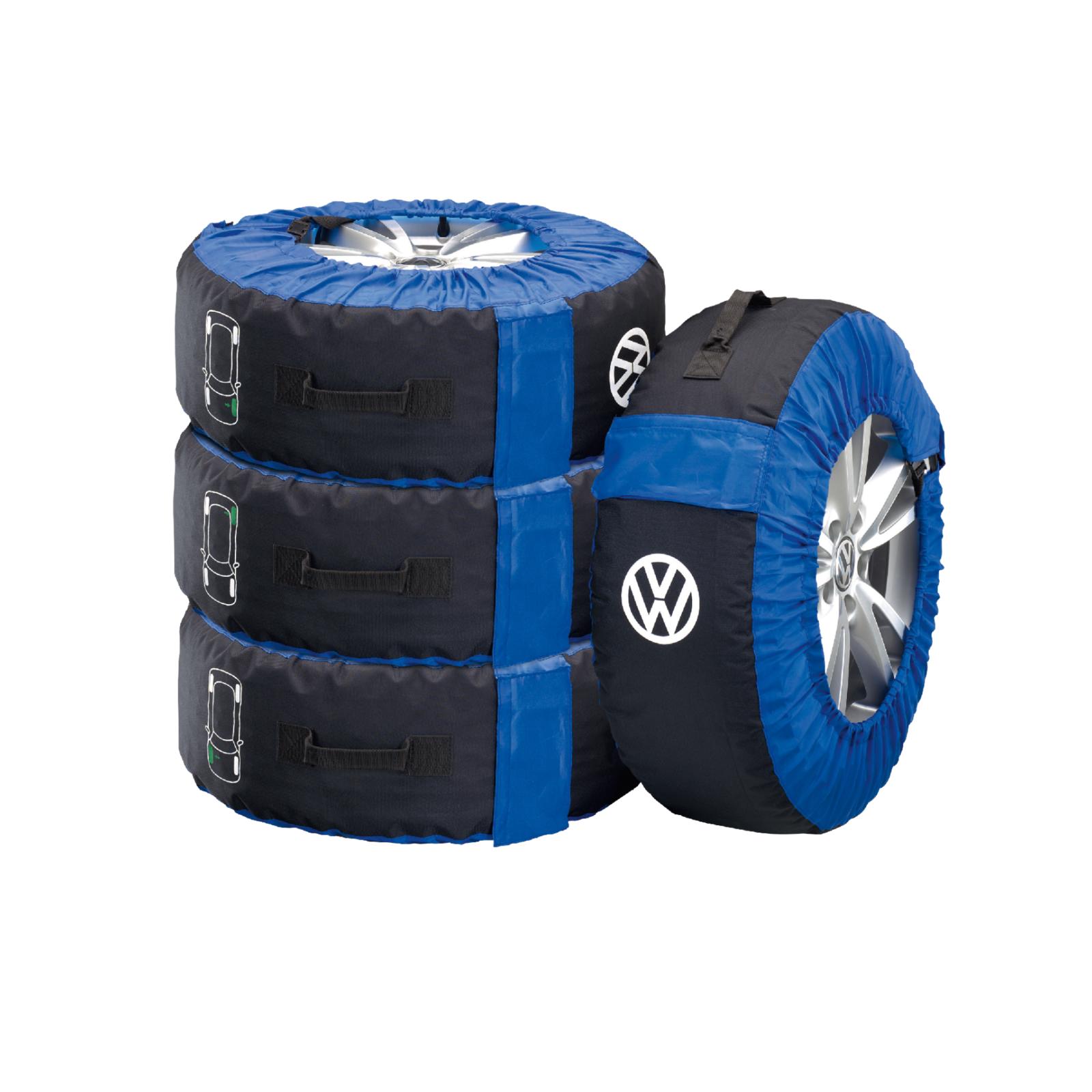 Original VW Reifentaschen für schonenden Transport und werterhaltende Lagerung blau für Kompletträder bis 18 Zoll 000073900